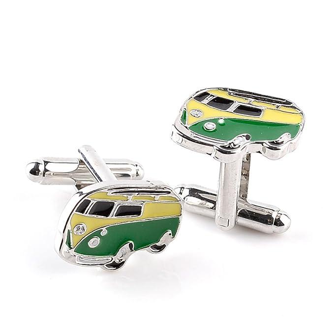 Moda Creativo Autobús Hombres Camisa Mancuernas Empresa Negocio  Regalo c4032b576e502