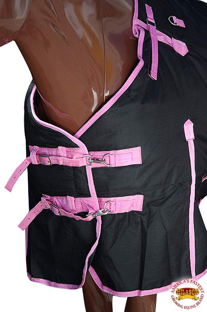 HILASON Waterproof 1200D Poly Turnout Horse Winter Belly Wrap Blanket