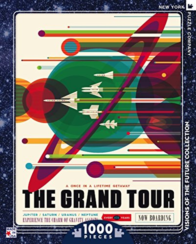 New York Puzzle Company - NASA The Grand Tour - 1000 Piece Jigsaw Puzzle