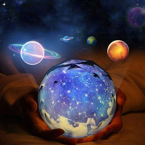Proyector de estrellas luz nocturna, lámpara de proyección de ...