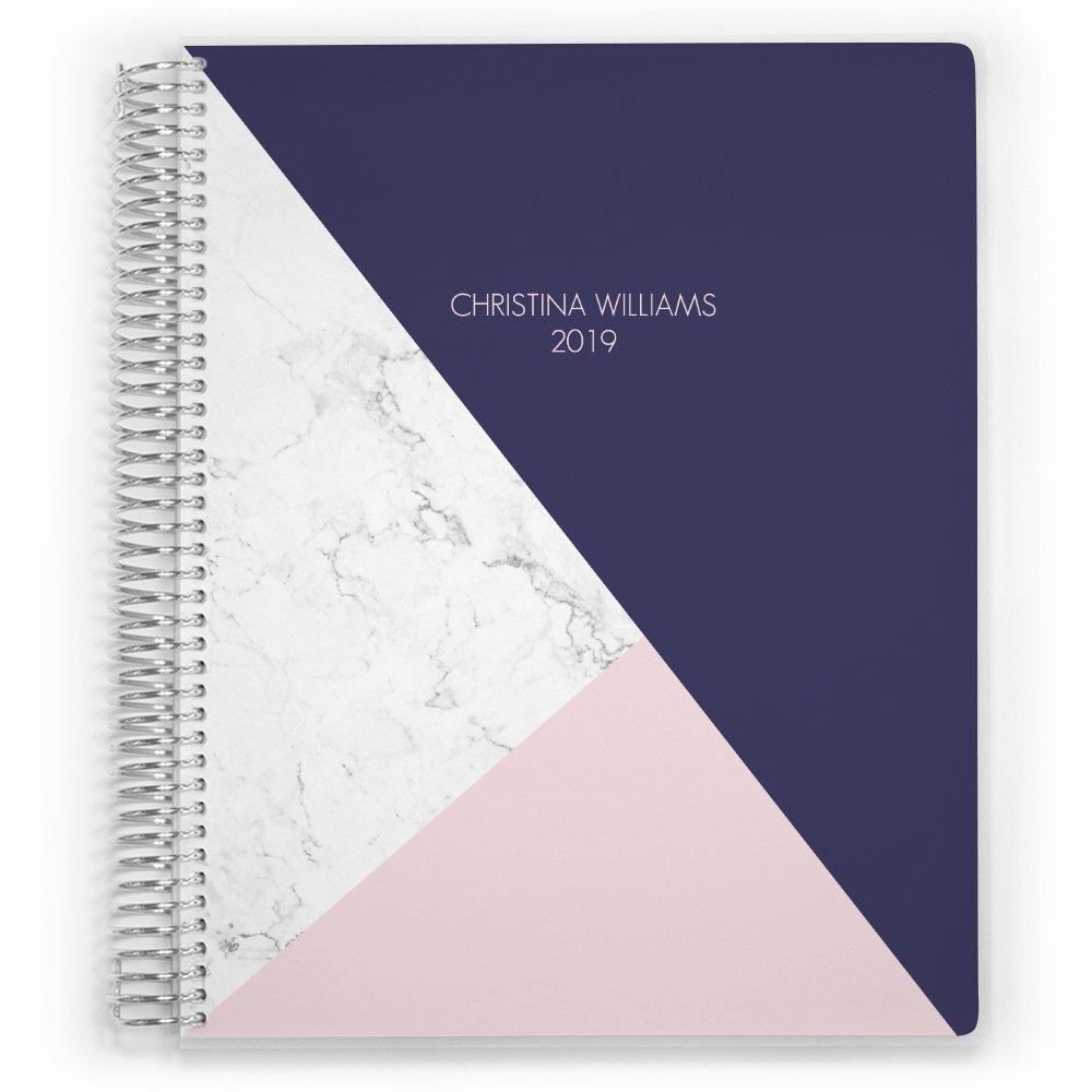 Customized 2018-2019 Student Planner, Homework Organizer, 12 Month Planner, Student Layout, School Planner, Class Planner (6x8)