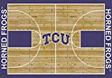 Texas Christian Horned Frogs NCAA College Home Court Team Area Rug 10'9''x13'2''