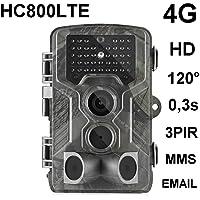 HC-800LTE 4G Wildkamera 16MP Full HD 42 Black LED 0,3 Sek Trigger 120° Fotofalle Überwachungskamera Jagdkamera GSM MMC SMTP SMS Jagd Wild Kamera Hunting Trail Camera Suntek 4G 3G 2G LTE
