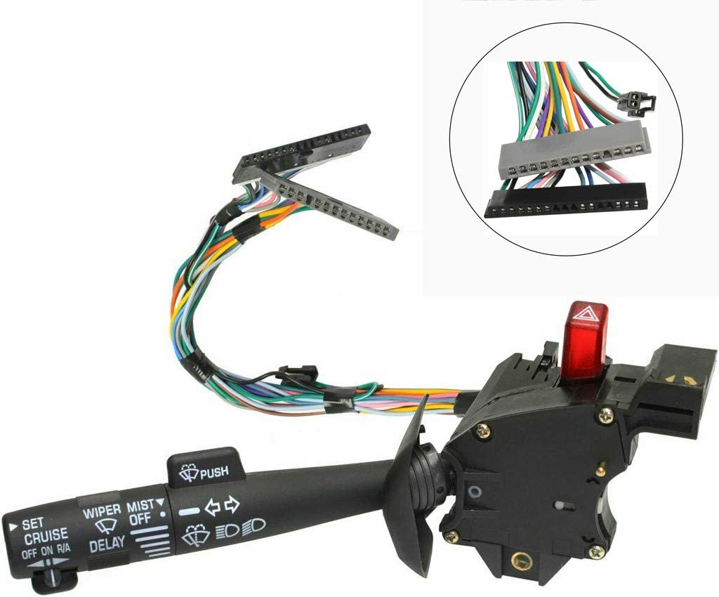 Headlight Turn Signal Windshield Wiper High//Low Beam Lever Switch for Chevy Olds