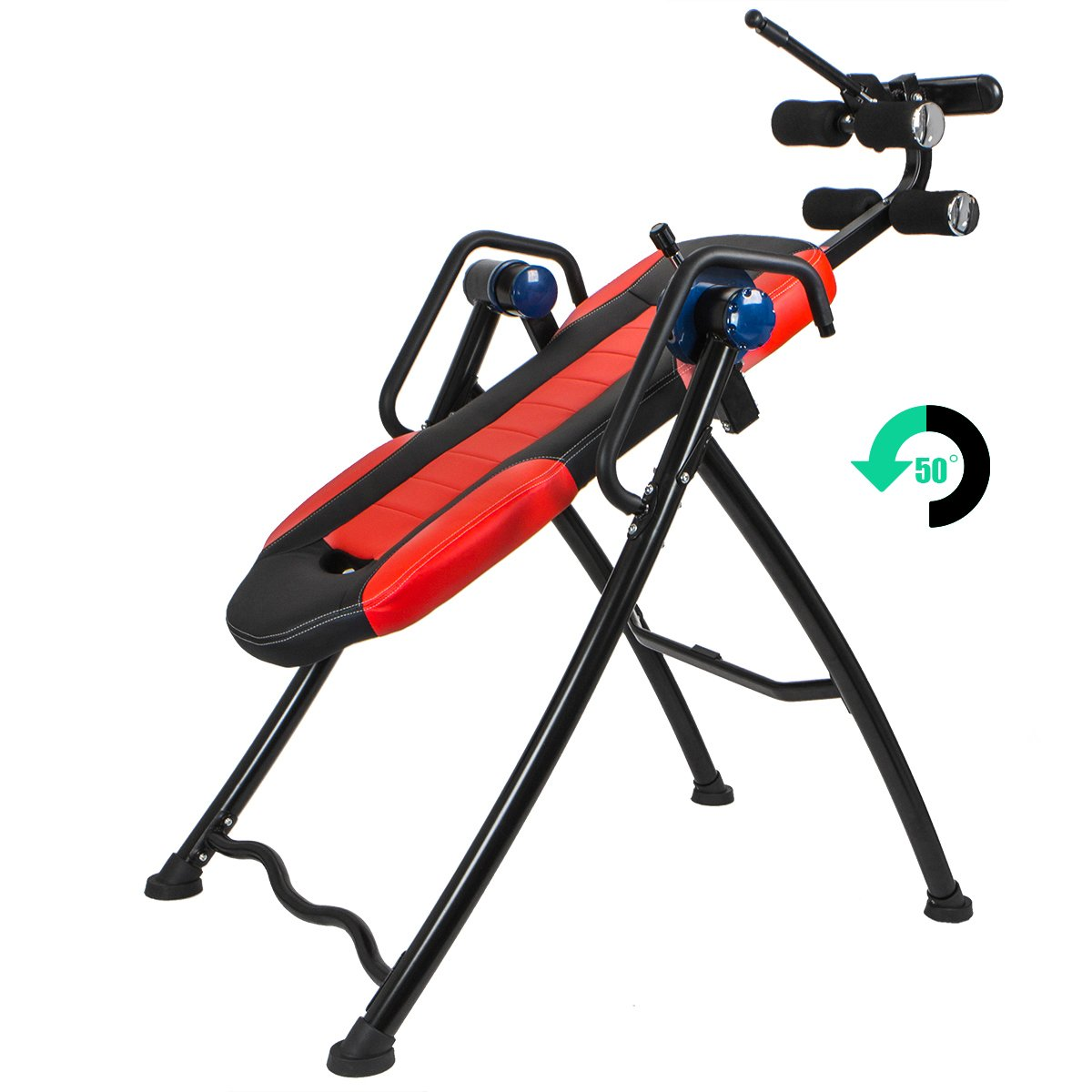 XtremepowerUS Gravity Inversion Therapy Table Fitness Back Pain Relief w/ Padded Backrest by XtremepowerUS (Image #3)