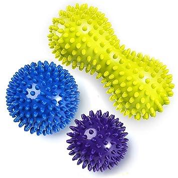 Pelota de lacrosse para masaje bola masajeador de pies con pinchos ...