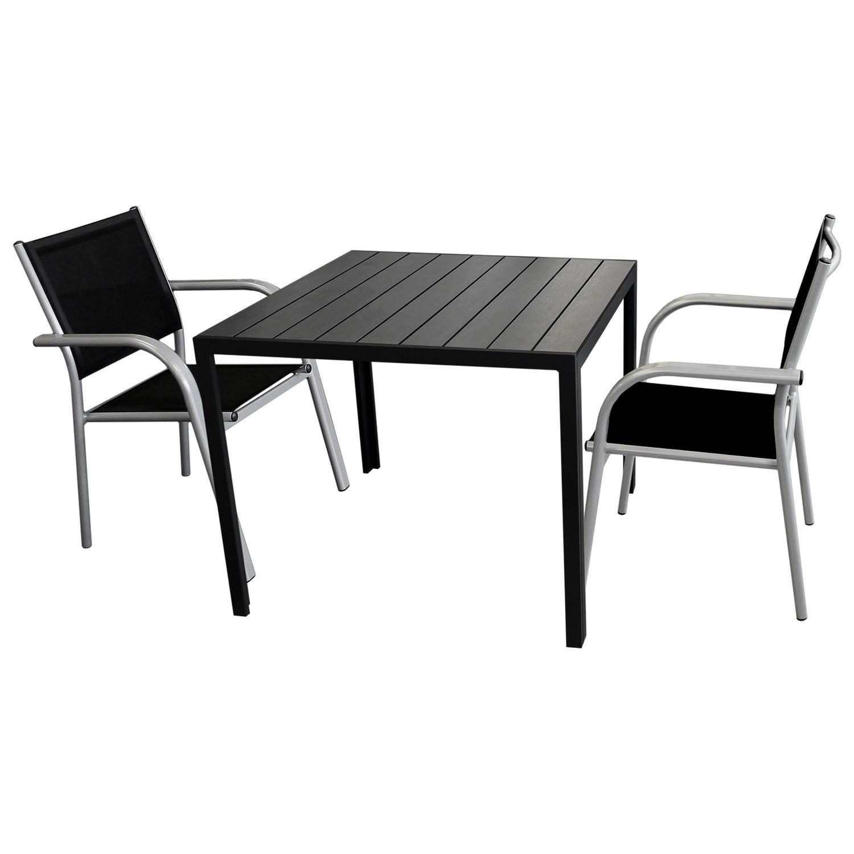3tlg. Balkonmöbel Gartenmöbel Bistro Set Sitzgruppe - Gartentisch ...