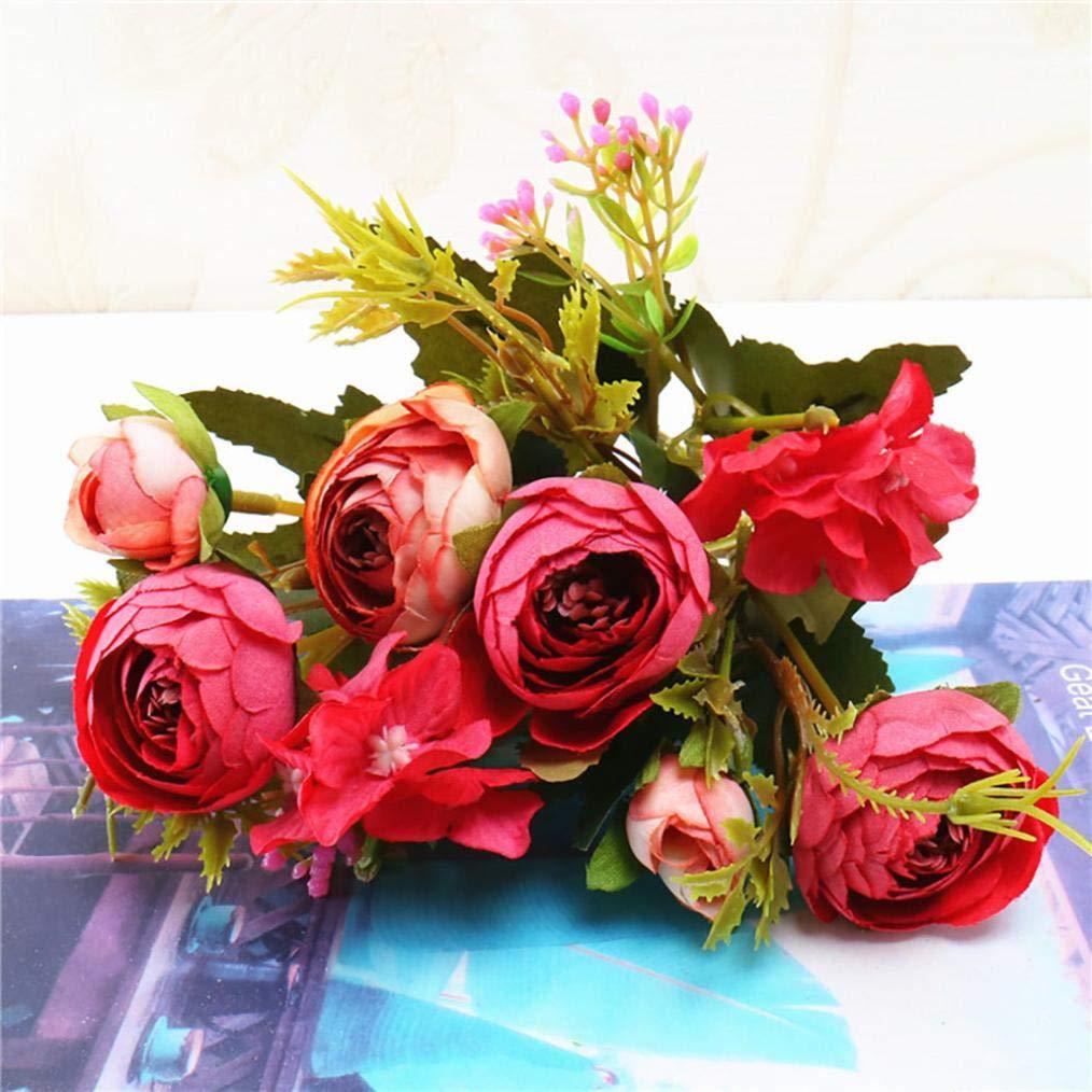 Bouquet De Fleurs Artificielles En Soie De Prune De Thé De