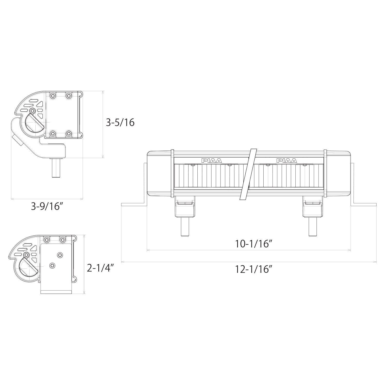 "Amazon.com: PIAA 22-07210 RF Series Yellow 10"" SAE Compliant Fog Beam LED  Light Bar Kit: Automotive"