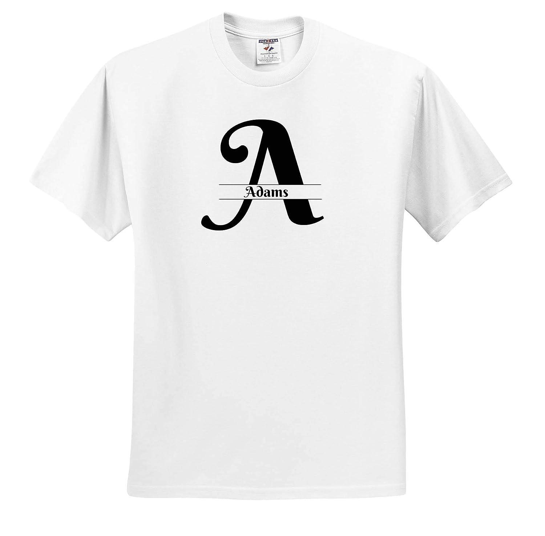 Bold Script Monogram A Adams 3dRose BrooklynMeme Monograms T-Shirts