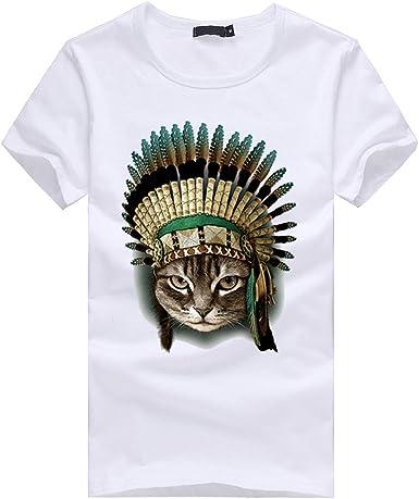 ACEBABY Camisetas Hombre Manga Corta Camiseta España Moda Funky ...