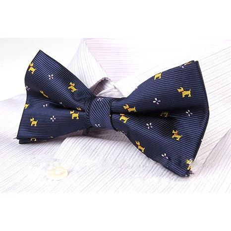 azul Pajarita ajustable PIXNOR para hombre complementos de boda