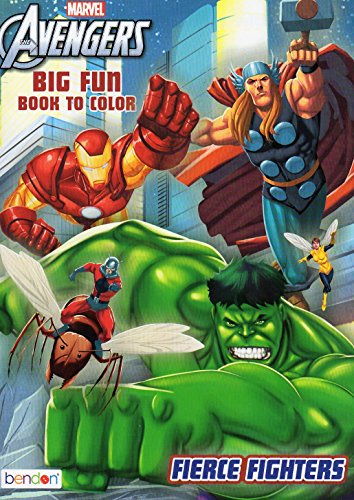 (Marvel the Avengers Big Fun Book to Color - Fierce)