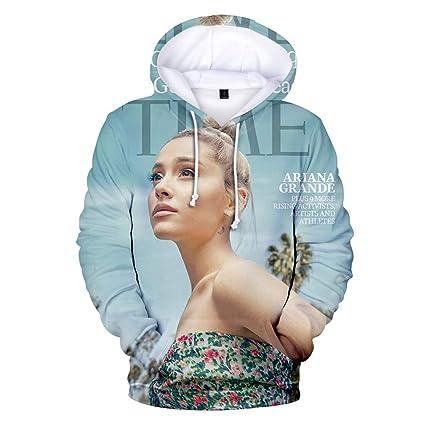 LBZD Fashion 3D Sudaderas Impresas Funny Ariana Singer Grande Sudadera con Capucha Pullover gráficos Sudaderas con