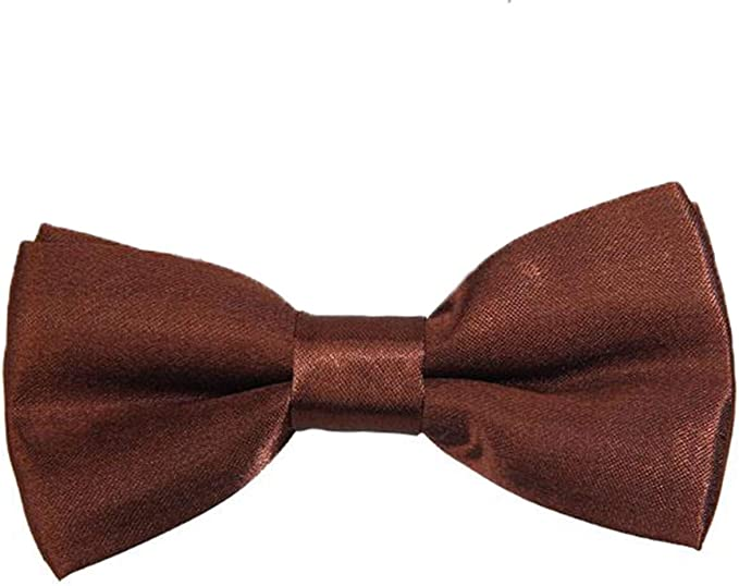 Gold CellDeal Men Boys Kids Children Pre Tied Satin Bow Ties Elastic Band