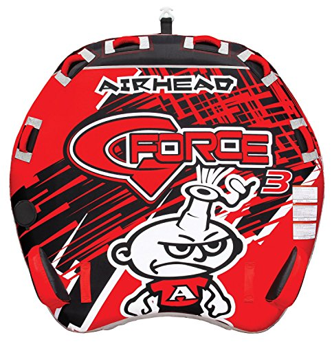 AIRHEAD AHGF-3 G-Force 3 Triple Rider Inflatable Towable Lake Performance Tube Airhead G-force Towable