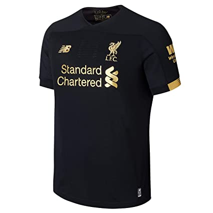 80592ea977fb0 Liverpool FC Home Kit 2019/2020 Black Short Sleeve Polyester Boys  SoccerGoalkeeper Jersey LFC Official