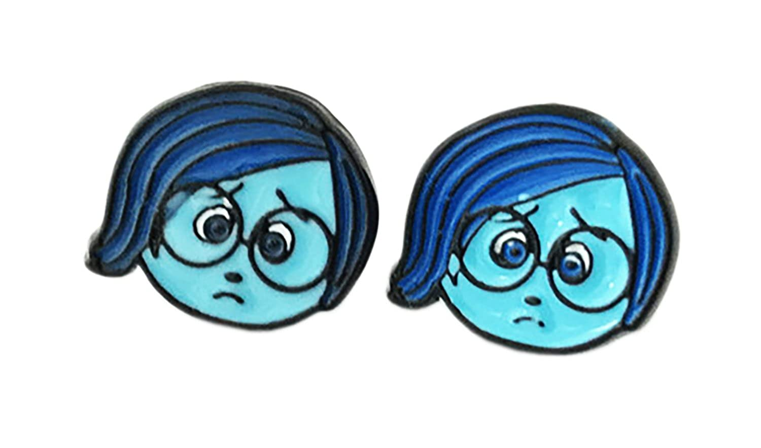 Sadness Inside Out Stud Earrings With Gift Box from Outlander Gear