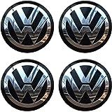 4PCS 56.5mm 2.2'' Auto Car Styling Accessories Emblem Badge Sticker Wheel Hub Caps Centre Cover fit for VW Volkswagen B5…