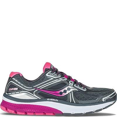 Saucony Women's Omni 15 Running Shoe,Grey/Purple/Pink,US