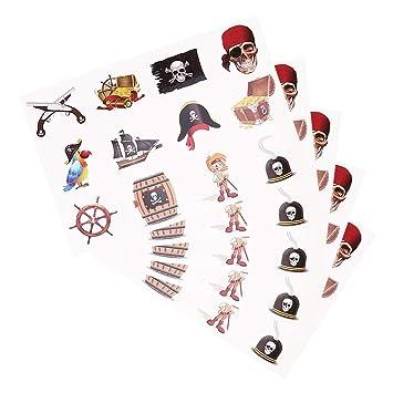 Tatuaje pirata para niños, etiqueta engomada pirata temporal ...