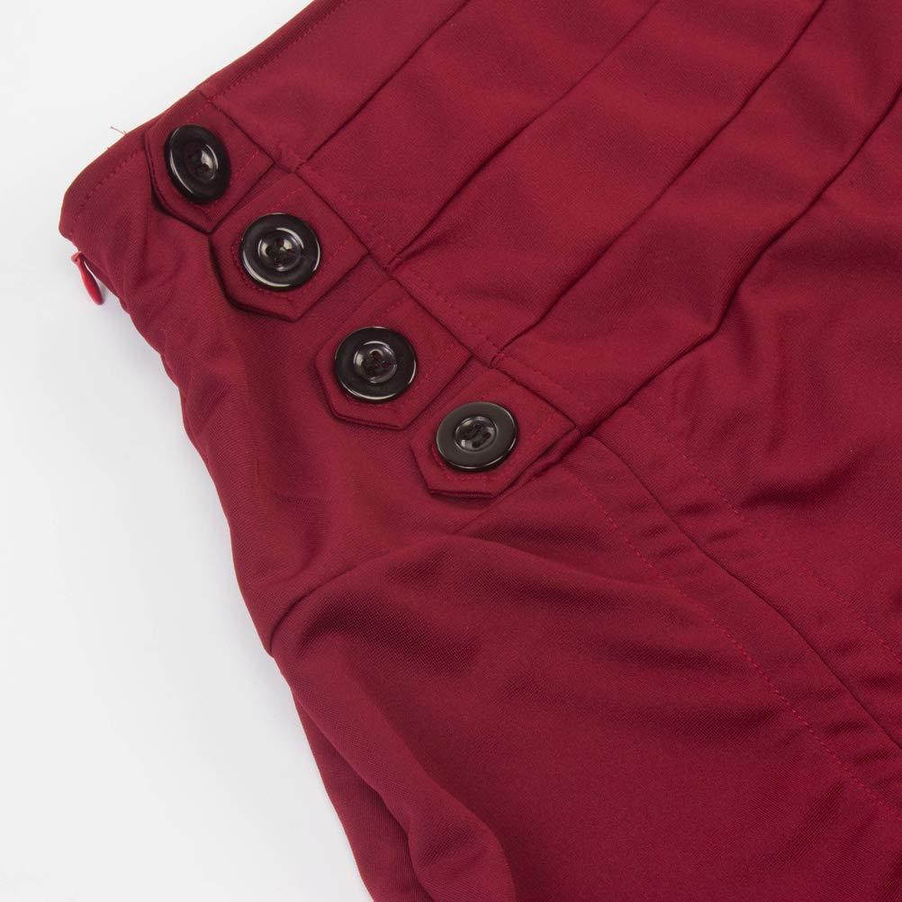ULEEMARK Falda Irregular para Mujer Falda De Encaje De Encaje G/ótico Tejer Cintura Plisada Retro Falda Larga Oto/ño Invierno Mujer