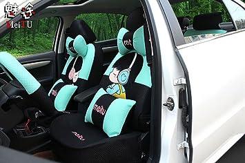 20ps 2016 New Luxury 1 Set Cute Female Cartoon Car Seat Cover Accessories Universal Interior