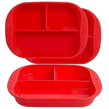 Amazon.com: Kinderville (paquete de 3) silicona niños platos ...