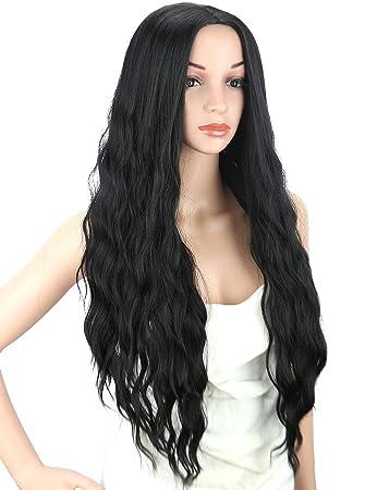 Amazon.com   Kalyss Women s wig Long Curly Wavy Premium Heat ... 5d35fb1eb0