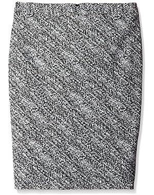 Women's Notch Bottom Jacquard Skirt