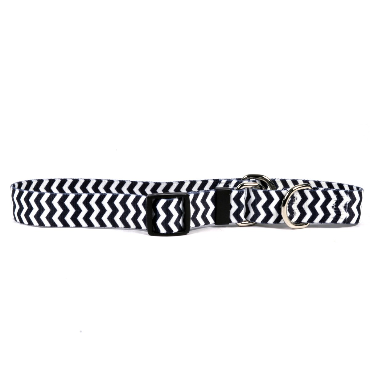 Chevron Licorice Martingale Control Dog Collar Size Extra Small 10  Long Made In The USA