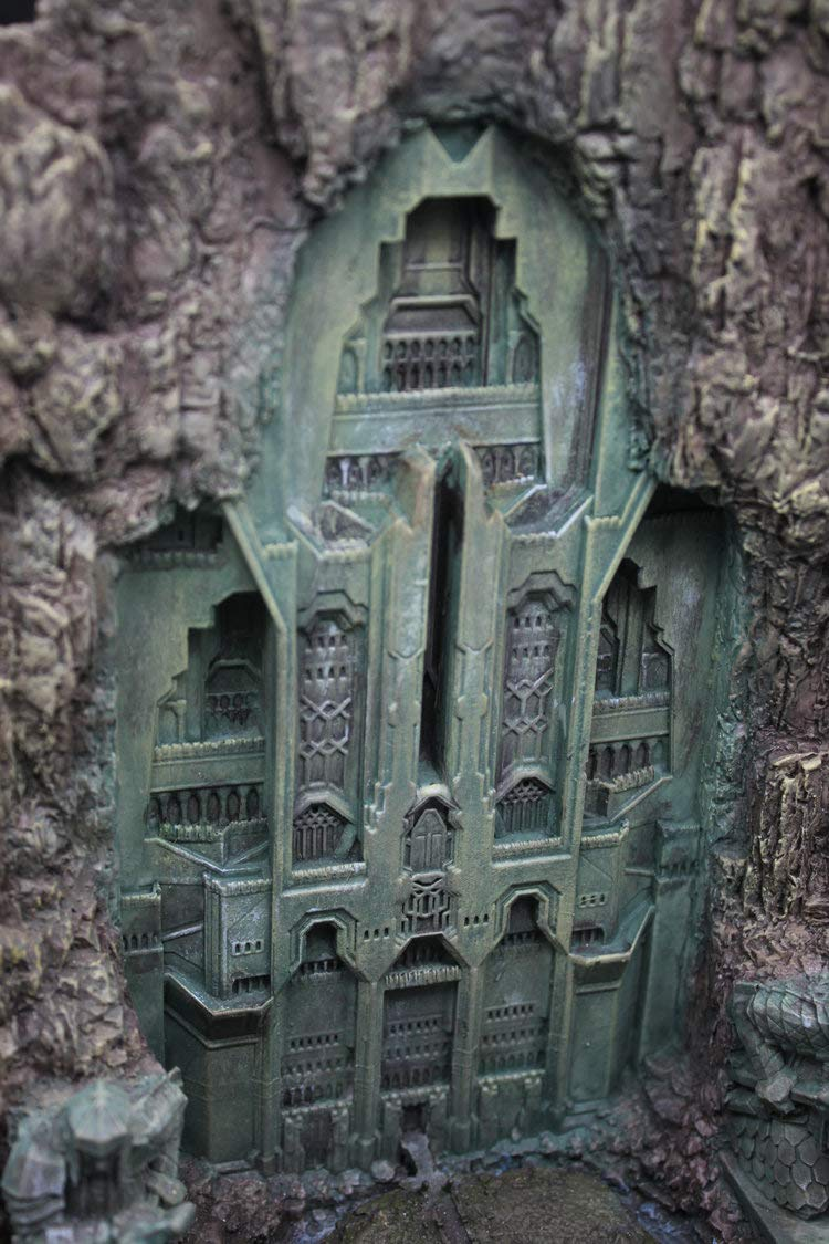 IN STOCK The Lord of The Rings Hobbit Lonely Mountain Door Resin Statue Beauty