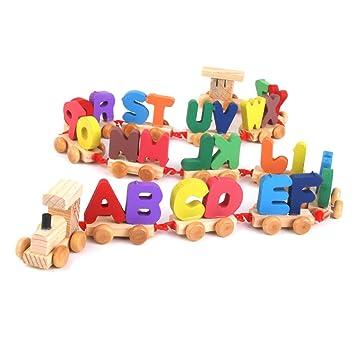 juguete juego educativo tren letras madera para nios beb