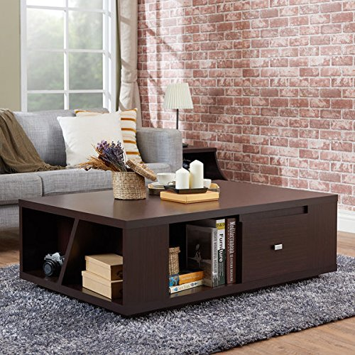 Furniture of America Farlah Contemporary Walnut Storage Coffee Table (Santa Fe Coffee Table Book)