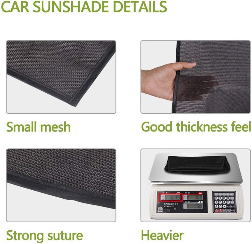 universal WDD Parasol para ventana lateral de coche mantiene la pantalla m/ás fr/ía 2 unidades bloqueo de rayos UV rejilla magn/ética