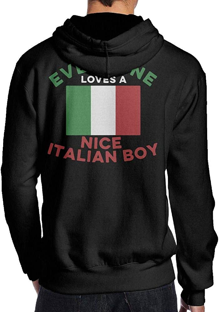 Everyone Loves A Nice Italian Boy Flag 1 Men S Pullover Hoodie Sweatshirt Back Print Hoodies At Amazon Men S Clothing Store