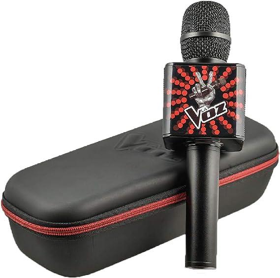Redstring MICROFONO Oficial LA Voz con Altavoces INCORPORADOS Incluye Soporte para Smartphone, Multicolor (RS412001)