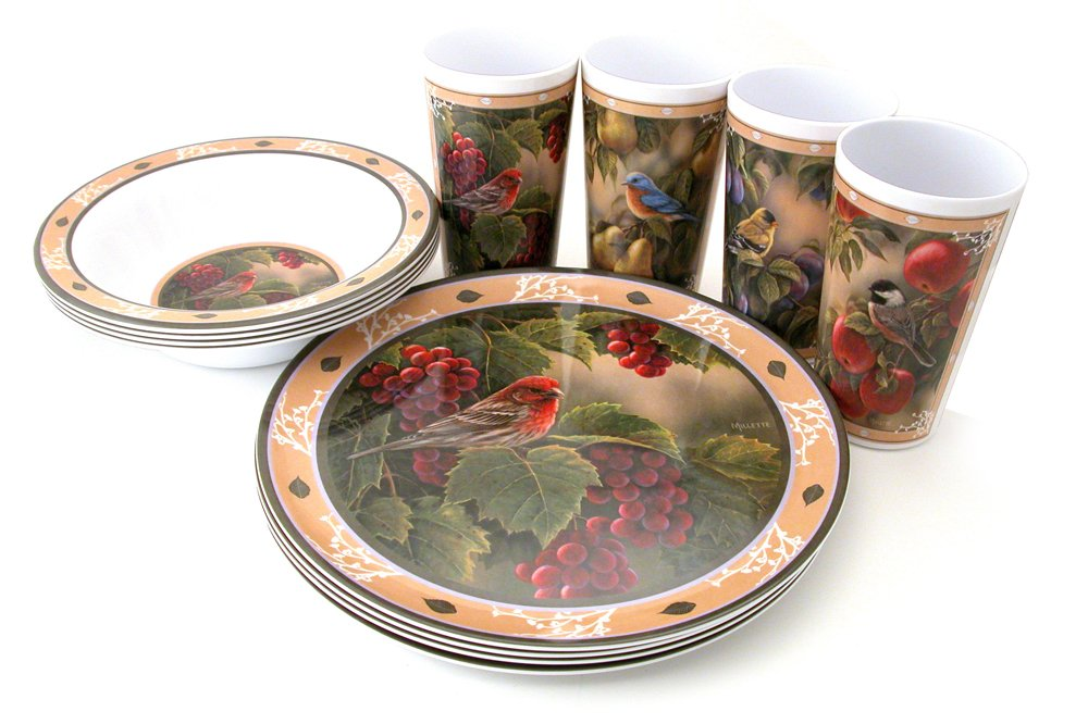 【爆売り!】 Motorhead Products 12-Piece Wild Products Wings Gift Boxed 12-Piece Melamine B001OOJD0Y Tableware Sets, Songbird Series by R&D Enterprises/Motorhead Products B001OOJD0Y, GISELLE EMOTION:dcbab576 --- a0267596.xsph.ru