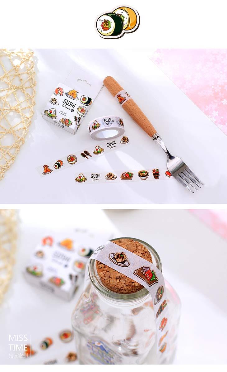 Autumn Water 1Box Yummy Sushi Japanese Washi Tape Decorative Scotch Tape for Scrapbooking Stickers DIY