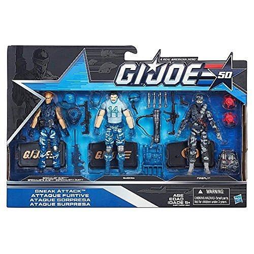 Firefly Joe Gi - G.I. Joe, 50th Anniversary, Sneak Attack Action Figure Set [Specialist Dusty, Bazooka, and Firefly], 3.75 Inches