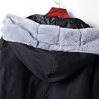 IZHH płaszcz damski sztuczne futro kurtka zimowa parka z kapturem płaszcz ogon rybny długi rękaw płaszcz z kapturem ramiona zielona bawełna kurtka puszysta kurtka: Odzież