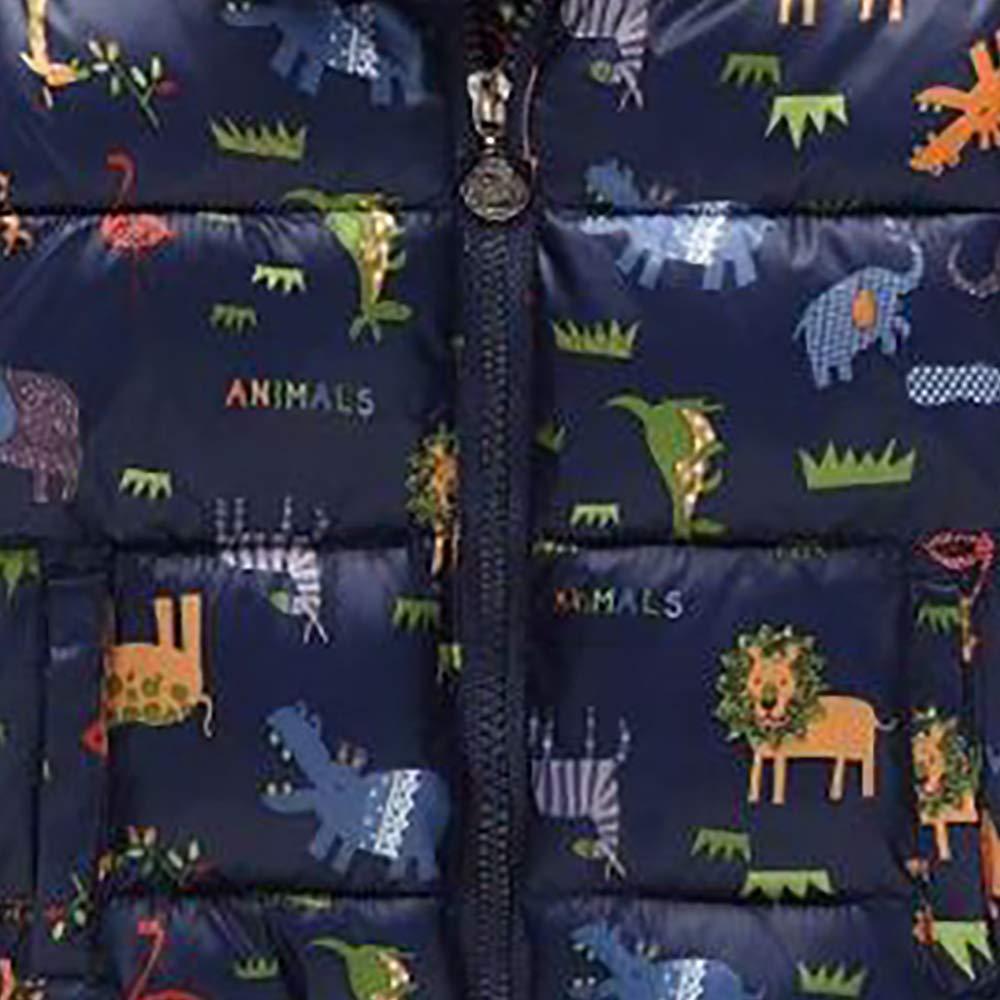 Baby Boys Girls Animal Printing Winter Coat Zipper Hooded Jacket Outdoor Clothing