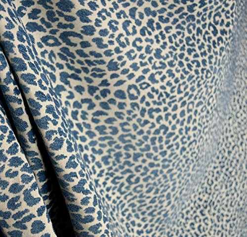 M9818 Delft Chenille Animal Print Blue Upholstery Fabric Leopard Upholstery Fabric
