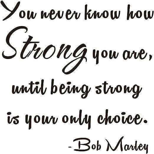 Sie nie Wissen, Wie stark Sie bis stark sind, ist Ihre einzige ...