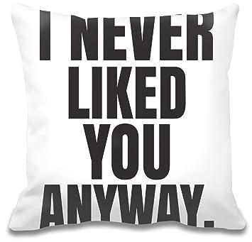 I Never Liked You Anyway Slogan Kissen Amazonde Küche Haushalt