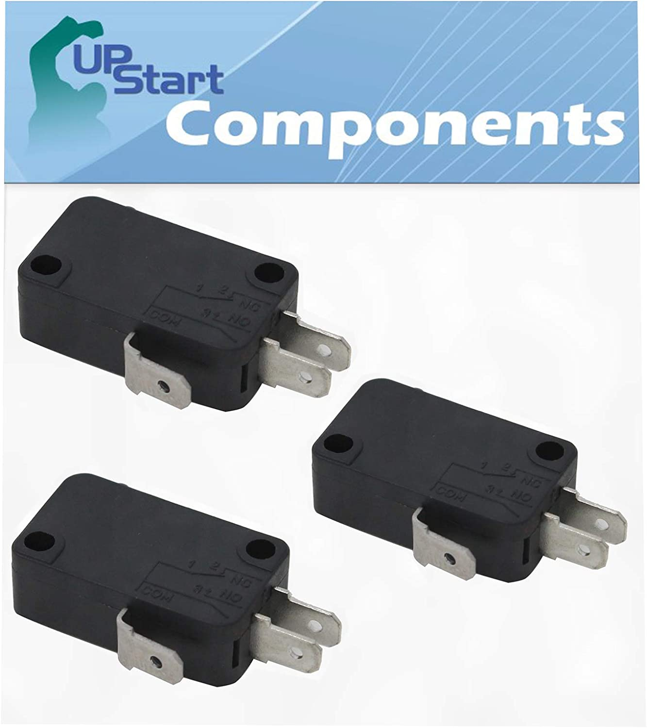 3-Pack W10269458 Microwave Door Switch Replacement for Maytag MMV4205DS2 - Compatible with W10269458 Door Switch