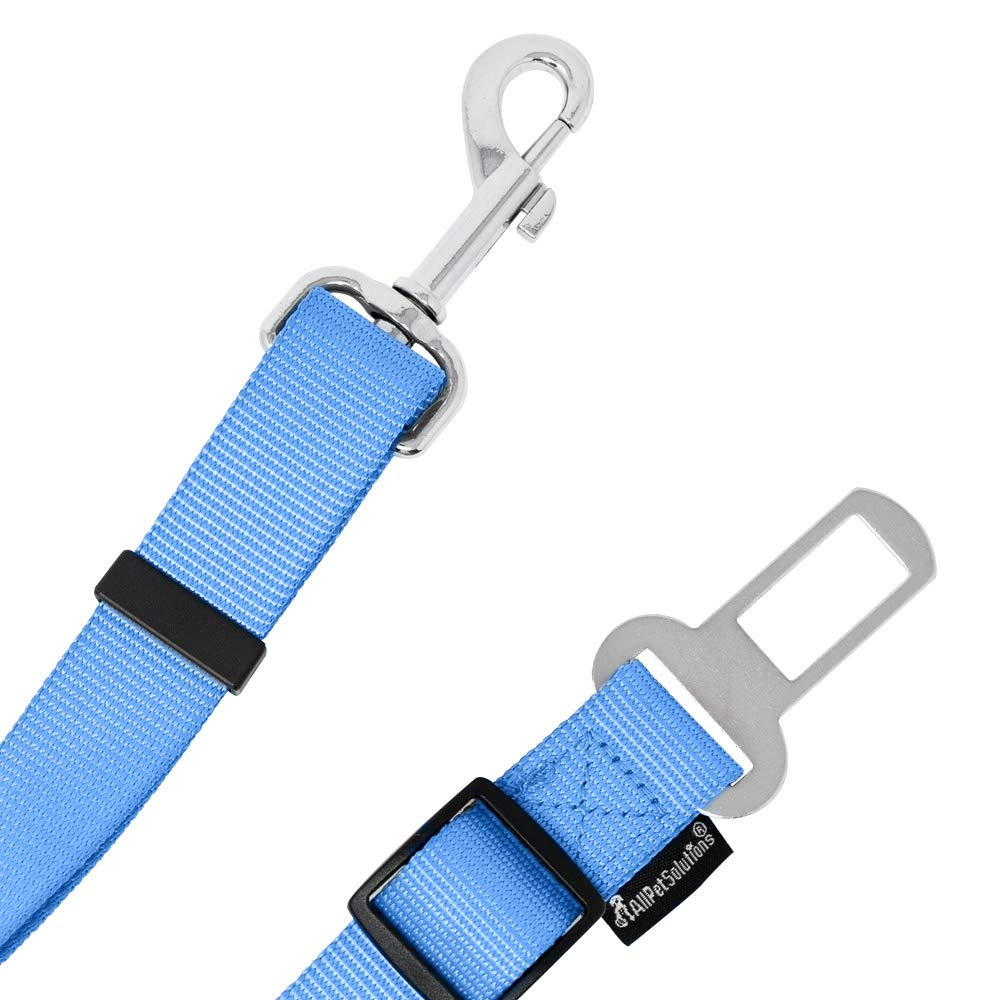 regolabile guinzaglio da viaggio per imbracatura o collare AllPetSoutions Allpetsolutions Cintura di sicurezza per cani e gatti singolo, blu