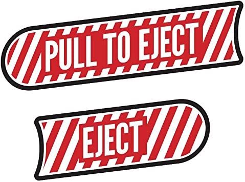 Wrangler Unlimited JKU Pull To Eject decal sticker kit for Jeep JK