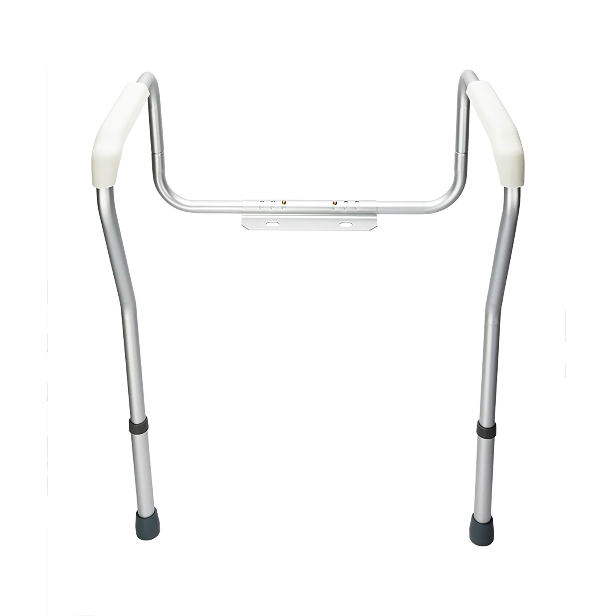 Veryke Toilet Safety Rail for Elderly, Disable Stand Alone Handrail on Banthroom (Silver)