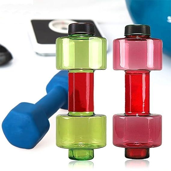 welim mancuerna botellas de agua botella de agua botella de deporte creativo botellas de agua taza bebida agua equipo de Fitness y Salud en el mismo tiempo ...